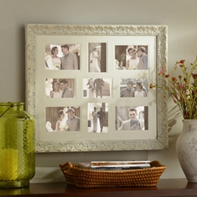 Distressed White Harlow Collage Frame