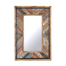 Barnwood Plank Framed Mirror