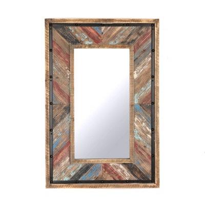 Barnwood Plank Mirror