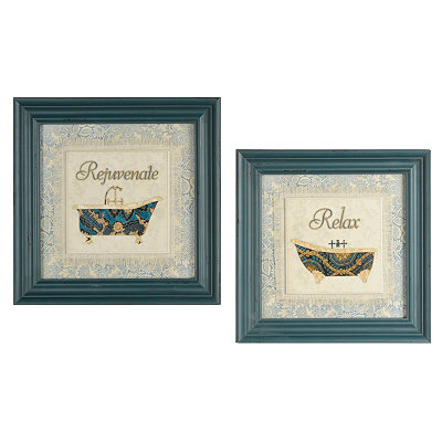 Blue Spa Framed Art Prints