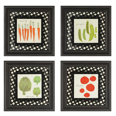 Veggie Plate Framed Art Prints