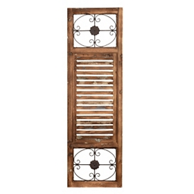 Distressed Natural Wood Shutter Panel