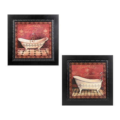 Red Tub Framed Art Prints