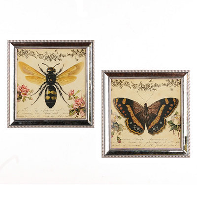 Botanical Wings Framed Art Prints
