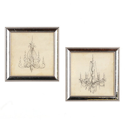 Weathered Chandelier Framed Art Prints