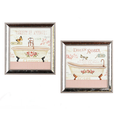 Rose Garden Tub Framed Art Prints