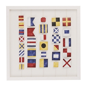 Nautical Flags Shadowbox