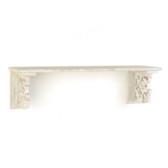 Ivory Carved Shelf, 30 in.