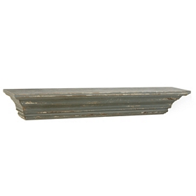 Distressed Blue Shelf, 24 in.