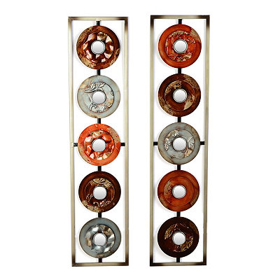 Metallic Circles Metal Wall Plaques