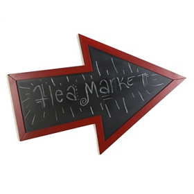 Red Arrow Chalkboard Wall Plaque