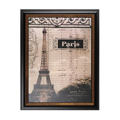 Eiffel Tower Ledger Framed Art Print