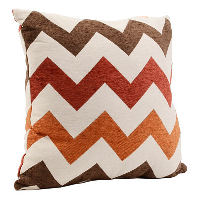 Spice and Chocolate Chevron Pillow
