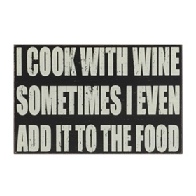 Cook With Wine Wall Plaque