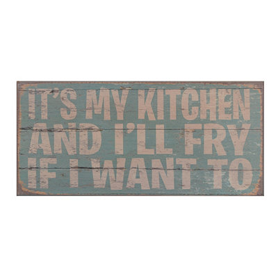 It's My Kitchen Wood Plaque