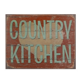 Country Kitchen Wood Plaque