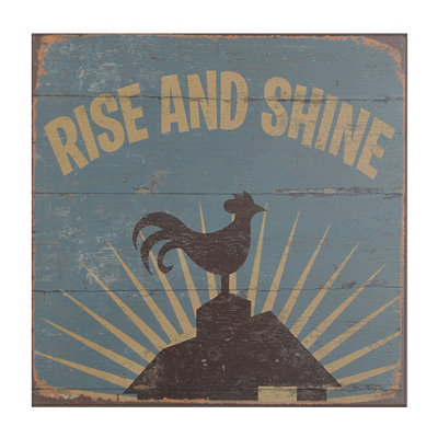 Rise and Shine Wood Plaque