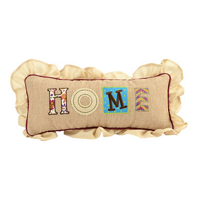 Burlap Patchwork Home Pillow