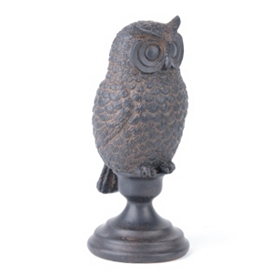 Perched Owl Statue