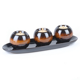 Chestnut Tealight Candle Holder, Set of 4