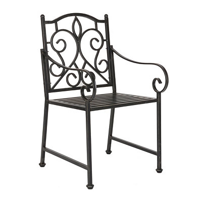 Black Filigree Metal Chair
