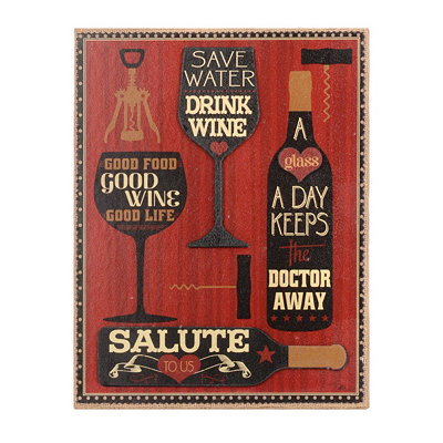 Good Wine Wall Plaque