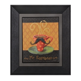 Mr. Espresso Framed Art Print