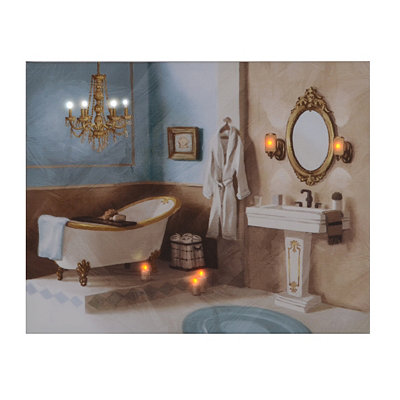 Luxurious Bathroom LED Canvas Art Print