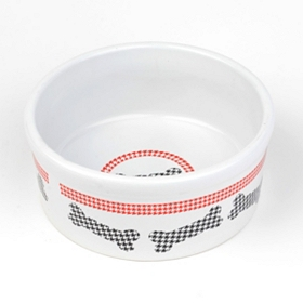 Houndstooth Dog Bone Bowl