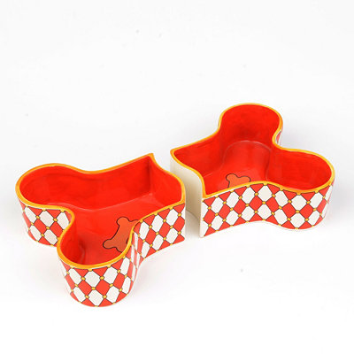 Red Bone Dog Bowl