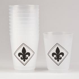 Black Stacked Fleur-de-lis Cups