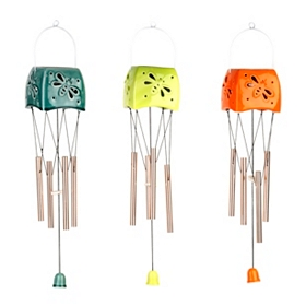Ceramic Spring Wings Wind Chimes