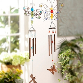 Butterfly and Dragonfly Metal Wind Chime