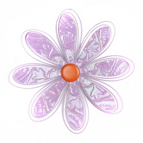 Purple Metal Daisy Wall Plaque