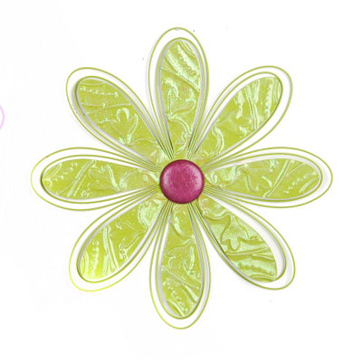 Green Metal Daisy Wall Plaque