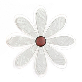 White Metal Daisy Wall Plaque