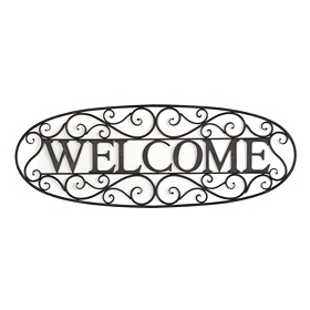 Welcome Metal Wall Plaque