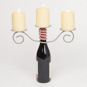 Triple Pillar Candle Holder and Bottle Topper