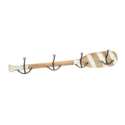 White Striped Oar with Hooks