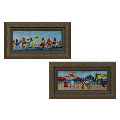 Beach Colors Framed Art Prints