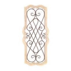 Cream Josephine Scroll Plaque