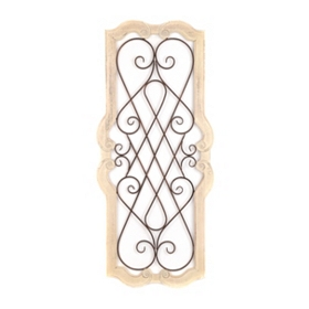 Cream Josephine Scroll Plaque