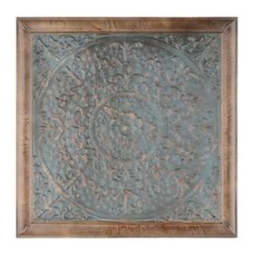 Rosette Teal Tile Wall Plaque
