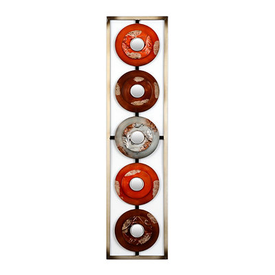 Red Circles Metal Wall Plaque