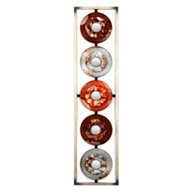 Brown & Silver Circles Metal Wall Plaque