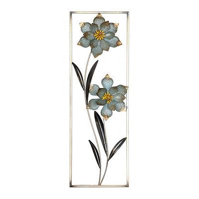 Cottage Blue Floral I Metal Wall Plaque