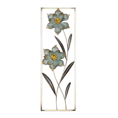 Cottage Blue Floral II Metal Wall Plaque