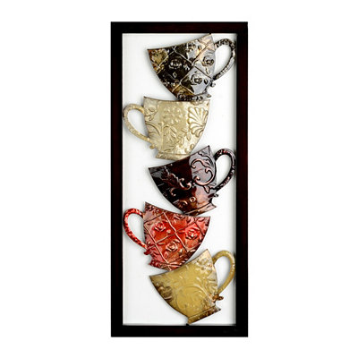 Coffee Mugs II Metal Plaque