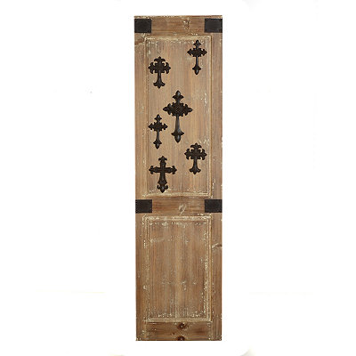 Distressed Natural Cross Wood Panel