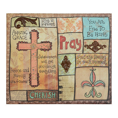 Inspirational Collage Canvas Plaque